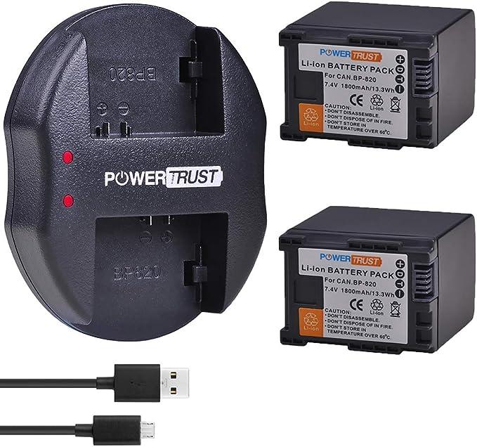 HFG20 HFM400 XA10 XA11 XF405 HFS200 XF400 HFG40 HF G21 HFM301 HFM30 HFG30 XA15 XA25 HFM300 HFM31 HFM32 HFM41 Batmax 1Pc 2000mAh BP-820 Battery for Canon VIXIA GX10 XA20