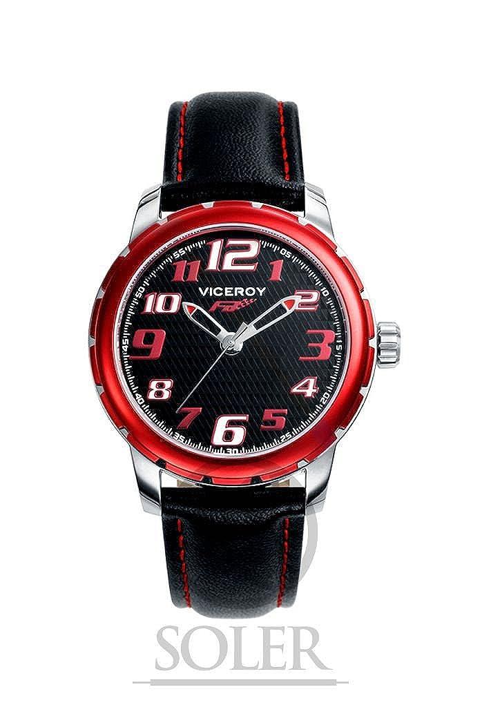 Viceroy Reloj Analogico para Chicos de Cuarzo con Correa en Cuero 40397-55: Amazon.es: Relojes