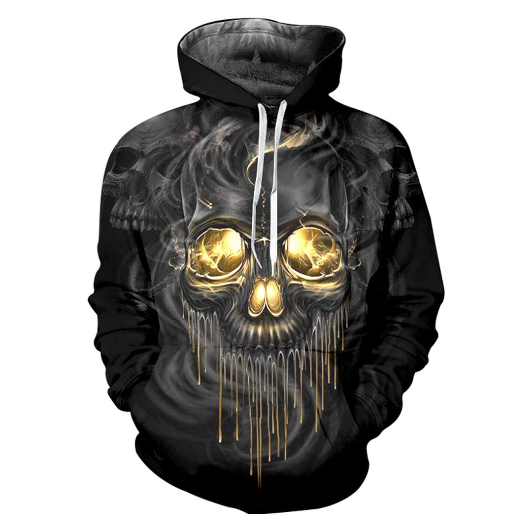 3D Smoke Art Skull Printed Sweatshirt Hoodies Hombre Hip Hop Streetwear Pullover O Neck Jacket