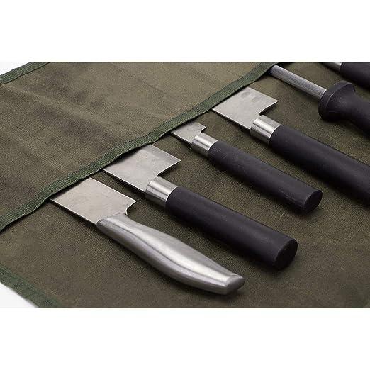 Amazon.com: Bolsa para cuchillos de chef enrollable, bolsa ...