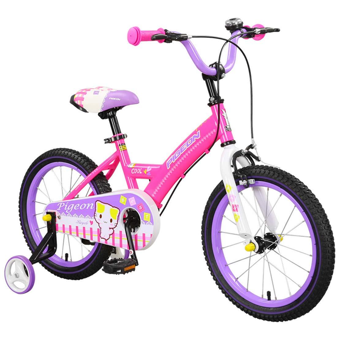 取り外し可能な訓練が付いている子供のバイクは自転車の高炭素の鉄骨フレームを動かします 14inch pink B07NYZ8L8Q