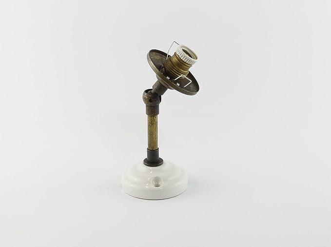 Braccio in ottone snodabile e orientabile per applique lampada da