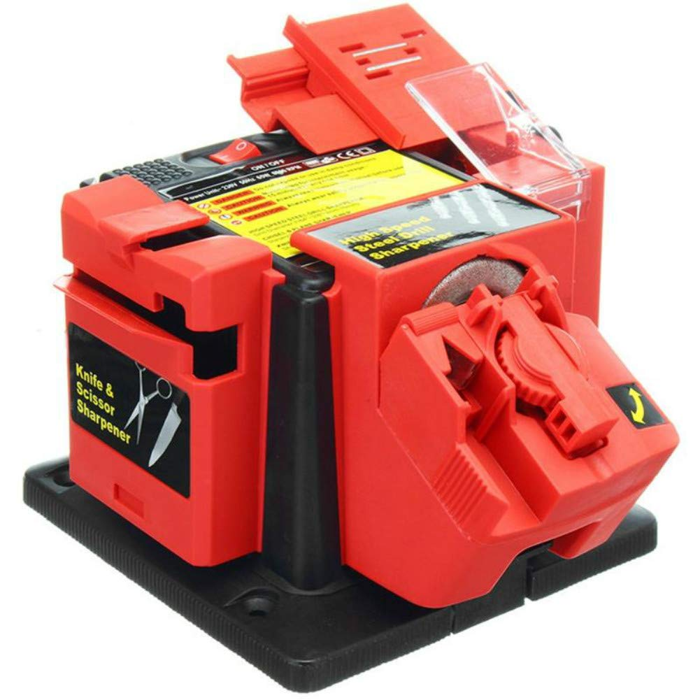 220V Multifunctional Electric Knife Sharpener for Grinding Drill Tool,Knives,Chisels,Choppers,Scissors by Bonlting