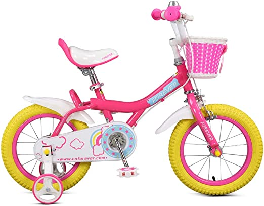 DT Niño Bicicleta niña Princesa 3-6-8 años de Edad, Cochecito de bebé 12/14/16 Pulgadas niño Bicicleta Bicicleta calcomanía Interior Proceso con Cesta (Color : Amarillo, Tamaño : 12 Pulgadas): Amazon.es: Hogar