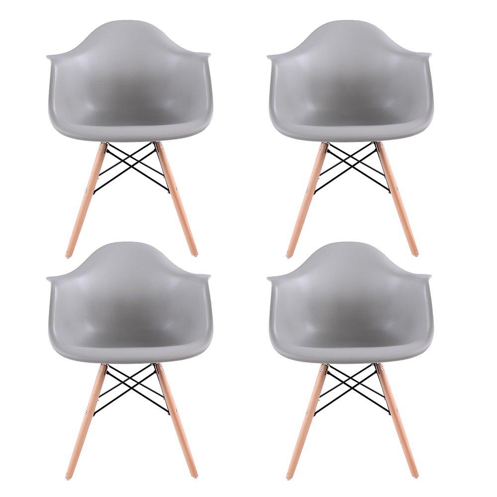 Lot de 4 Scandinave Chaises de Salle à Manger Chaise de Salon Chaises de Café les Fauteuils Lounge Fauteuil de bureau Meubles -