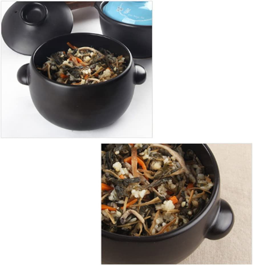Korean Traditional Ceramic Rice Cooker with Lid Japanese Style Donabe Rice Cooker Earthenware Rice Cooker