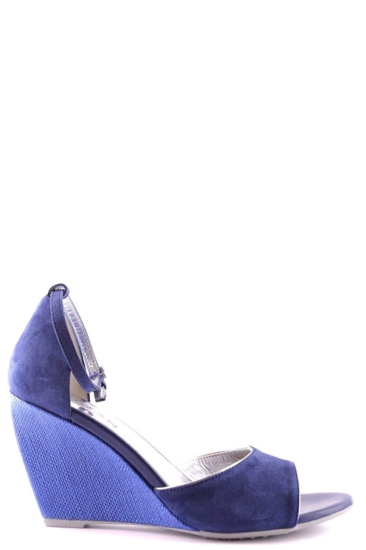 nouveau style e2723 291ae Hogan Femme MCBI21256 Bleu Tissu Chaussures Compensées