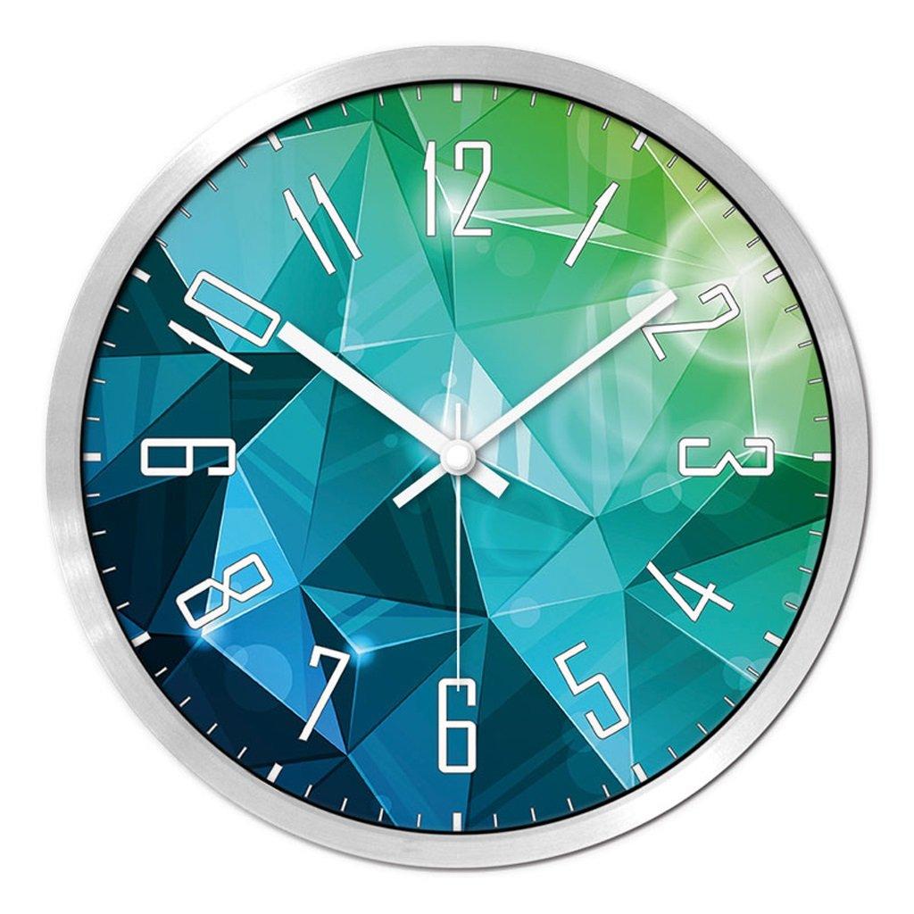 Unbekannt FANJIANI Stumm Wanduhr Persönlichkeit Cartoon Nette Uhr Kinderzimmer Stille Quarz Uhr Kreative Uhr Quarzuhr Uhr Hängende Tabelle (Farbe : Silber, größe : 12 Zoll)