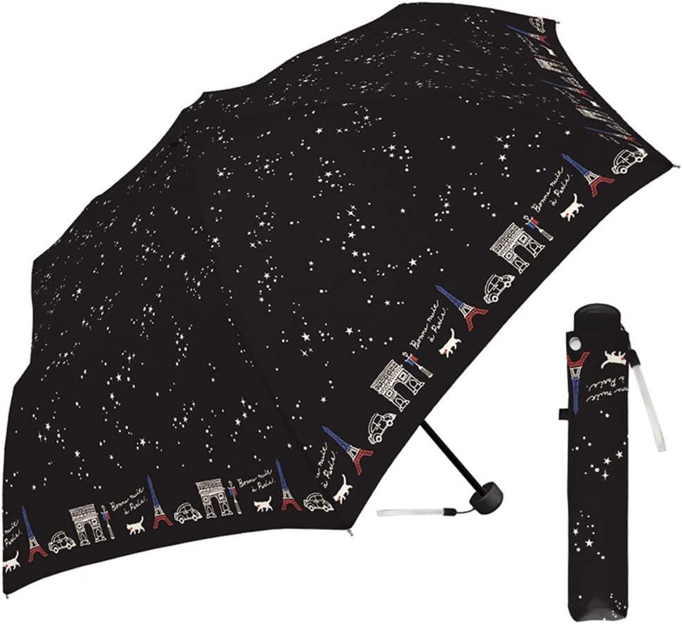 Folding umbrella 50cm crux50fold folding umbrella 50cm Paris of night black