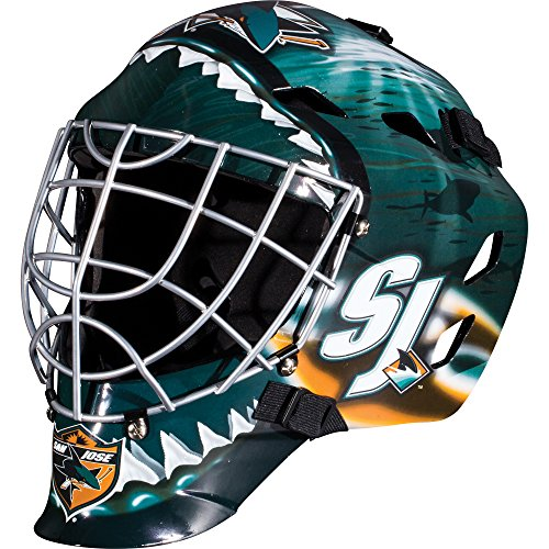 Franklin Sports NHL San Jose Sharks GFM 1500 Goalie Face Mask (Shark Helmet Face)