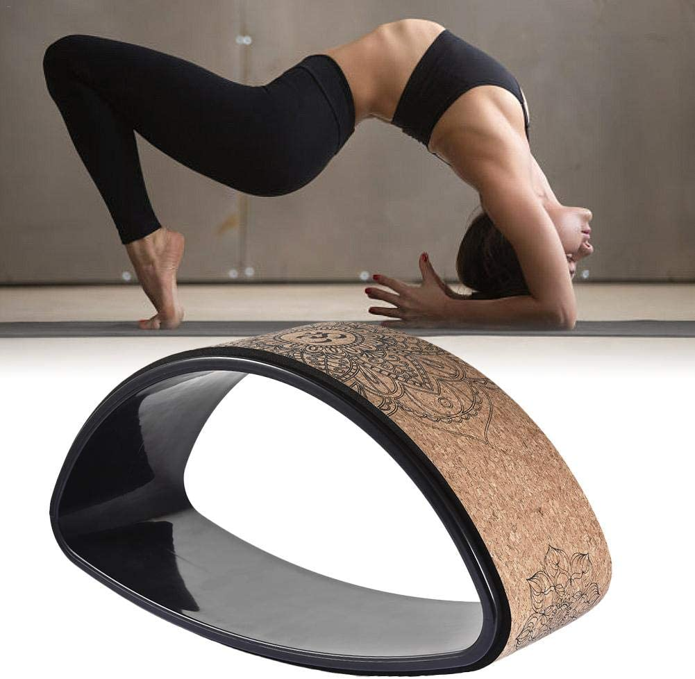 die die R/ückenbiegungen verbessert Stretch Pilates Kreis Yoga-Zubeh/ör Yoga-Kreis precauti Yoga-Rad Komfortables Dharma-Kork-Yoga-Rad Fitness-Rad Hohle