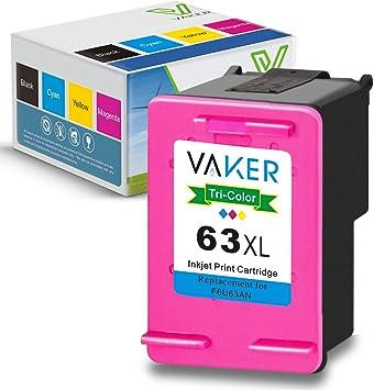BSTINK 2 Pk 63 XL Black Ink Cartridge For HP Officejet 5255 5258 5255 4657 4658