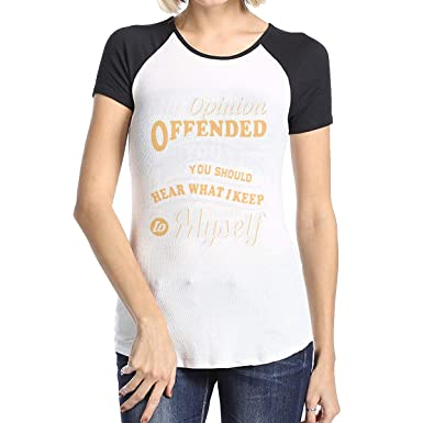 2dd25e5ec My Opinion Offended You You Should Hear What I Keep to Myself Raglan T-Shirt