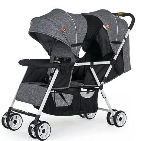 JM Carro de bebé El cochecito de bebé gemelo del asiento ...