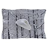 CafePress - Snowy Owl, Praying Wings - Standard Size Pillow Case, 20''x30'' Pillow Cover, Unique Pillow Slip