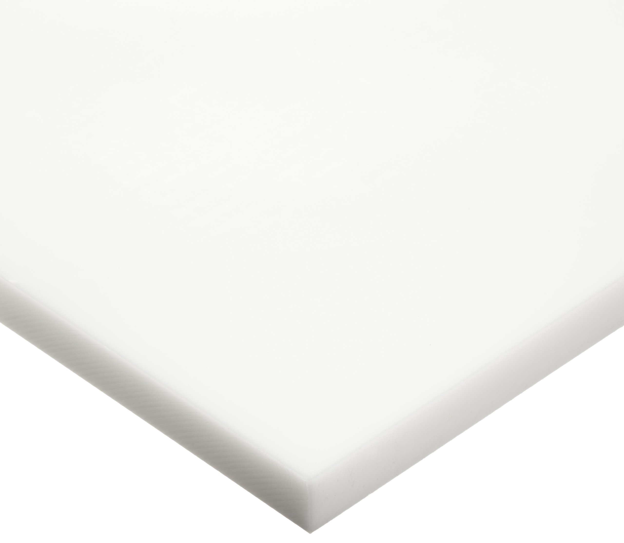 HDPE (High Density Polyethylene) Sheet, Opaque Off-White, Standard Tolerance, ASTM D4976-245, 0.500'' Thickness, 12'' Width, 24'' Length by Small Parts