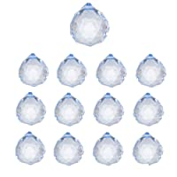 Simuer K9 Clear Crystal Ball, 13 Pack Faceted Ball Prism Suncatchers Art Decor for Photography Wedding Deco Ceiling Lamp Lighting Hanging Drop Chandelier Pendants 20mm,60mm Decorative Ball