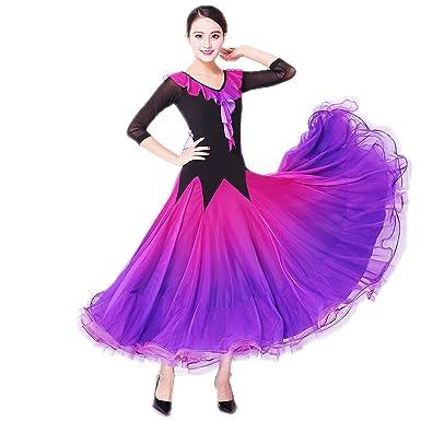 14391bb00d42 NAKOKOU Women Ballroom Dance Dress Standard Dance Flamenco Waltz Foxtrot  Modern Dance Dress Competition Elegant Dresses