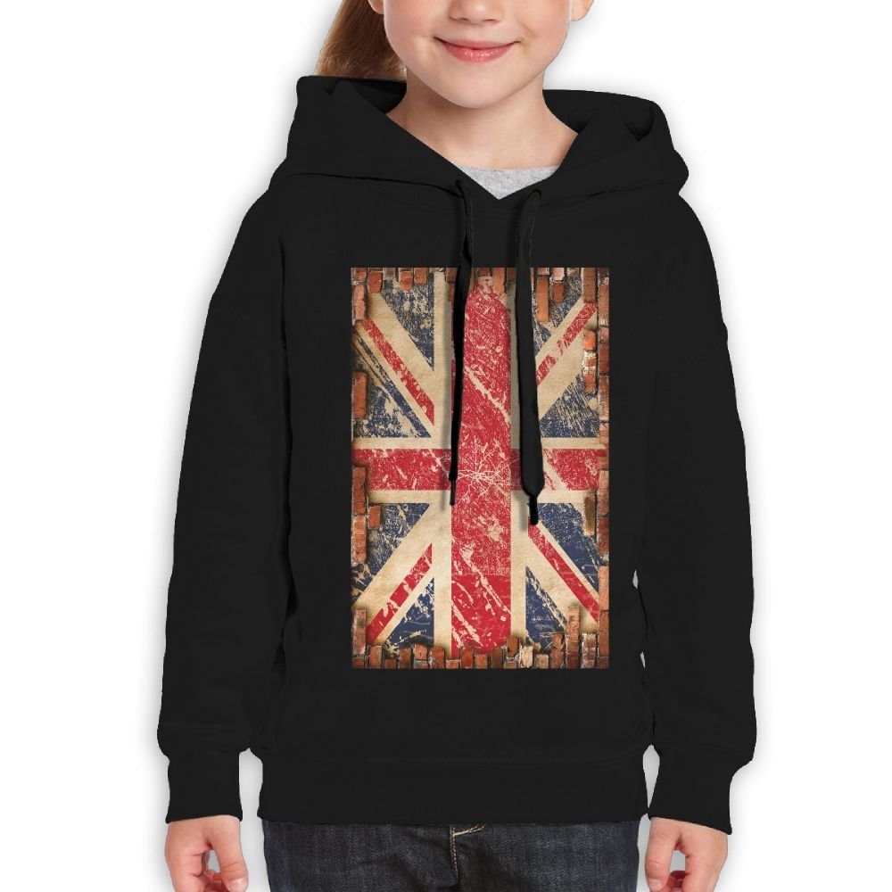GLSEY Flag On The Wall Pattern Youth Soft Casual Long-Sleeved Hoodies Sweatshirts