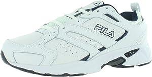 Fila Memory Capture Mens Wide Shoes Size 10, Color: White/Navy