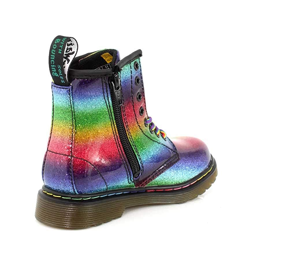 Martens Kid/'s Collection R24526980 Dr Martens Kids Junior 1460 Ombre Glitter Boot Dr