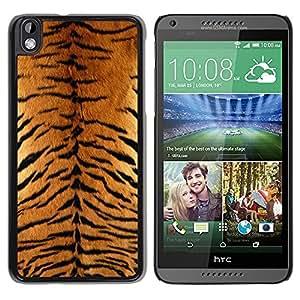 TopCaseStore / la caja del caucho duro de la cubierta de protección de la piel - Tiger Furry Pattern Animal Wild Big Cat - HTC DESIRE 816