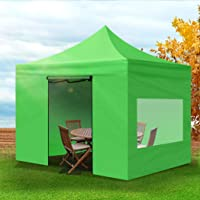 Mountview Gazebo Tent 3x3 Marquee Gazebos Mesh Side Wall Outdoor Camping Canopy Green