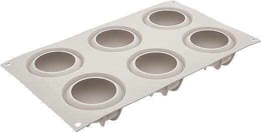قالب سيليكون ميني جوتشيا (دروب) من سيليكومارت، صينية مرنة مع تقنية ثلاثية الأبعاد تصنع 6 حلويات دائرية على شكل قطرة، يمكن فكها بسهولة والفرن، والميكروويف، والفريزر وغسالة الأطباق، صُنع في إيطاليا