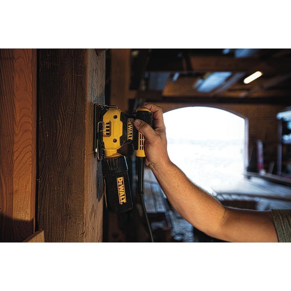 DEWALT DWE6411K 1/4 Sheet Palm Grip Sander Kit by DEWALT (Image #7)