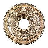 Livex Lighting 8205-65 Ceiling Medallion, Hand Painted Vintage Gold Leaf