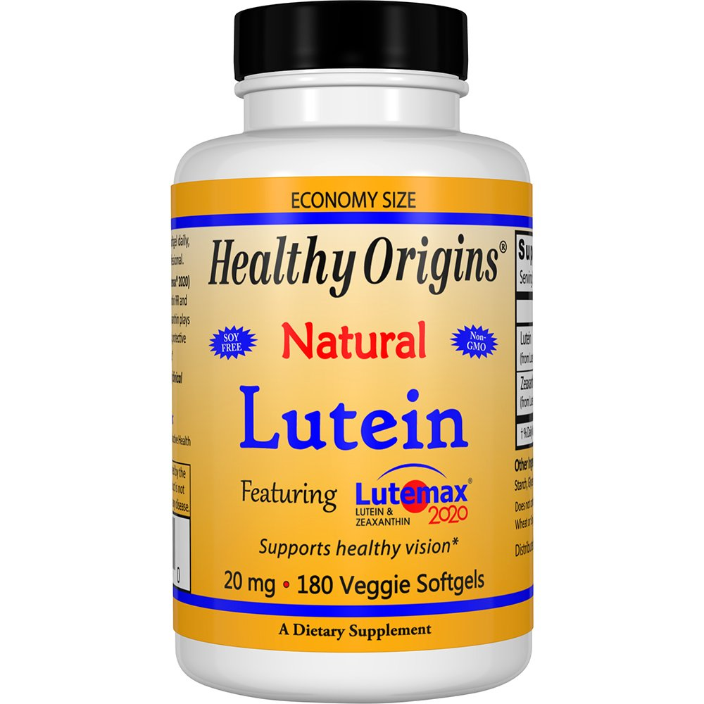 Healthy Origins Lutein Lutemax 2020 Supplement, 20 mg, 180 Count by Healthy Origins