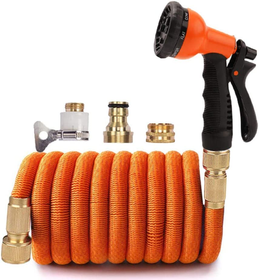 1/2'' Flexible Garden Hose Pipe Water Hose Expandable High Pressure Water Gun Hose Nozzle Jet Car Wash Washer Cleaning Irrigation Tool-1/2''_25ft_T09 T09