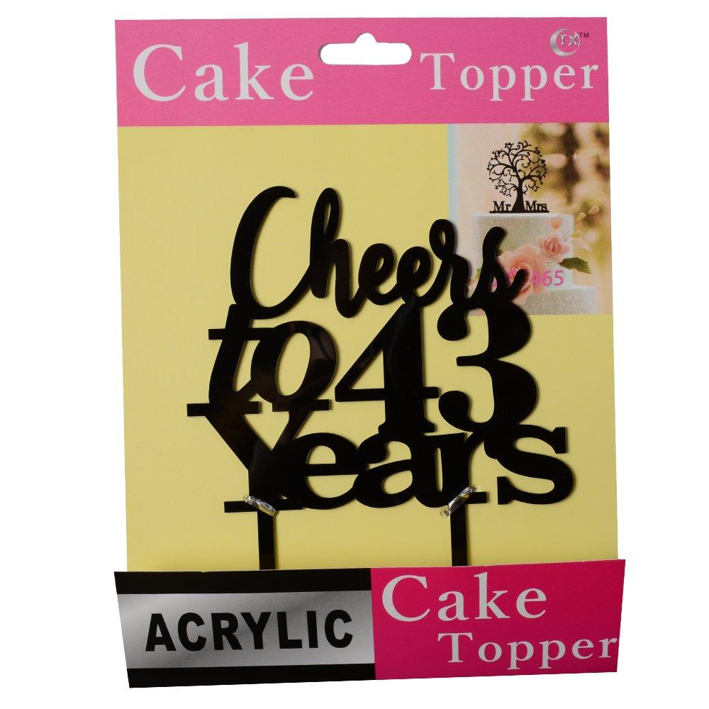 Amazon.com: Cheers a 43 años tarta 43th cumpleaños ...