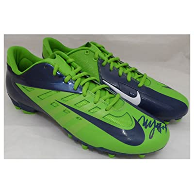 16f0d0d7f67 Marshawn Lynch Signed Autograph Nike Cleats Shoes Seattle Seahawks ML Holo  Stock #131210 - Certified Authentic