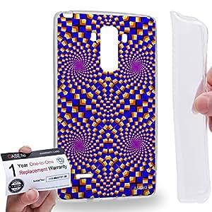 Case88 [LG G4 Stylus] Gel TPU Carcasa/Funda & Tarjeta de garantía - Art Fashion Visual Art Effect 29 Art1045