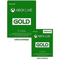 Abonnement Xbox Live Gold 3 mois + 3 mois GRATUIT | Xbox Live - Code jeu à télécharger