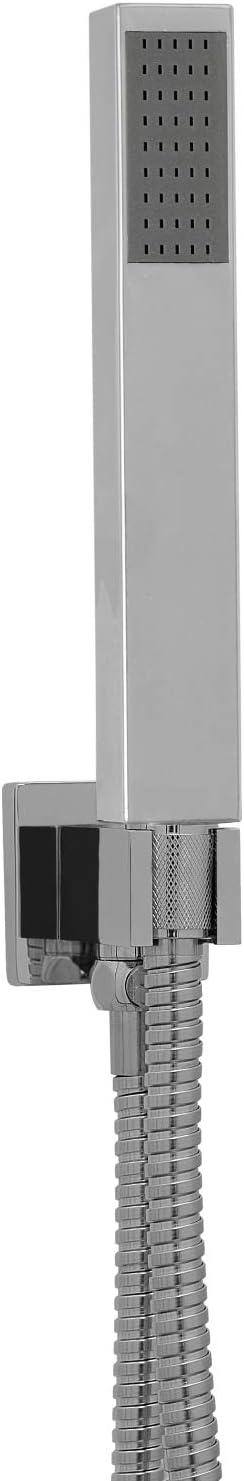 ENKI kit alcachofa de ducha manual forma rectangular ABS cromado: Amazon.es: Bricolaje y herramientas