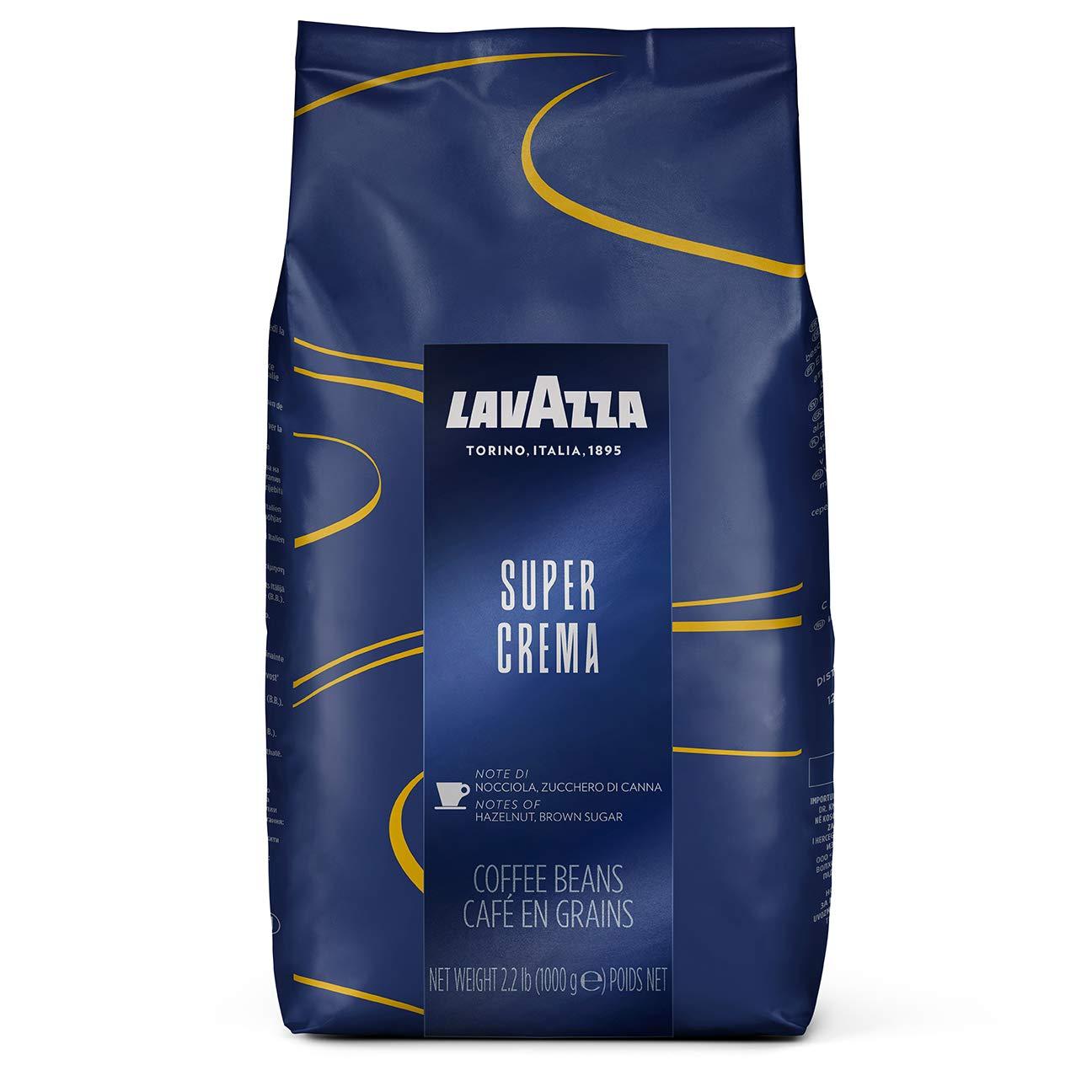 Lavazza Super Crema Whole Bean Coffee Blend, Medium Espresso Roast, 2.2 Pound (Pack of 1) by Lavazza