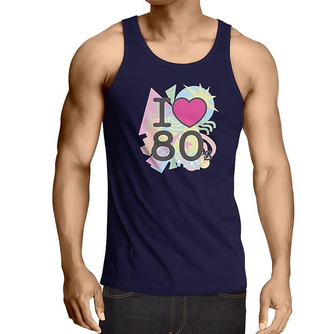 Camisetas de Tirantes para Hombre Amo los años 80s Música Camisetas, regalos: Amazon.es: Ropa y accesorios