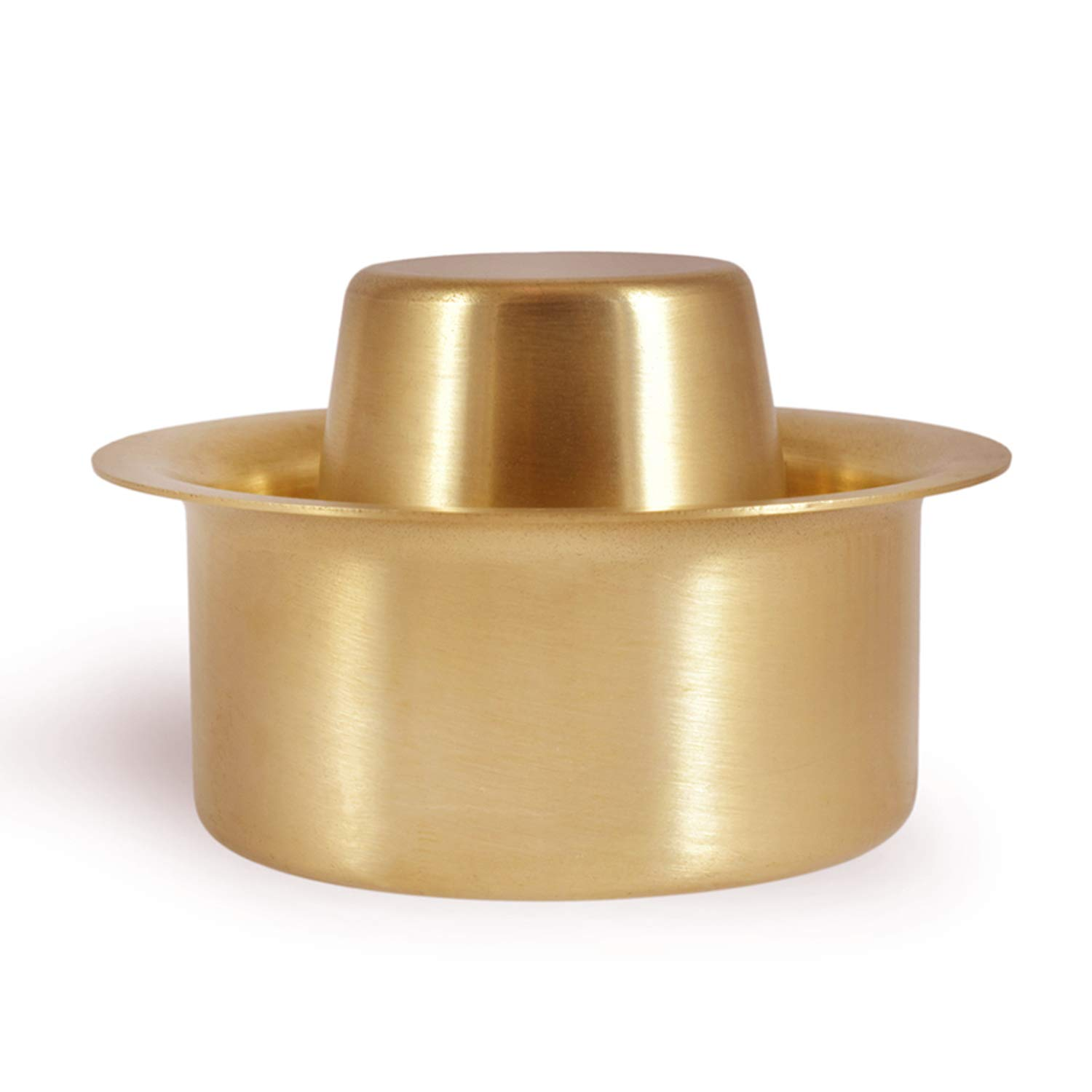 Sidapur Brass Dabara Set - High Quality Brushed Matte Finish - For South Indian Filter Coffee - 120ml
