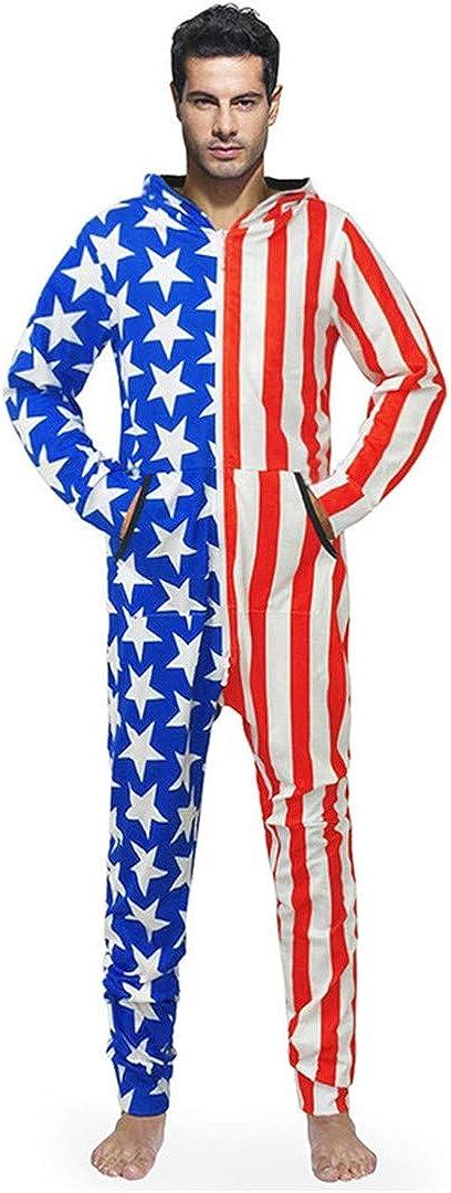 UDGWROC Wolf Print 3D Jumpsuit Herren Strampler Langarm Casual Sweatshirt Hoodies Lange Hosen Overalls Halloween Weihnachten J100413