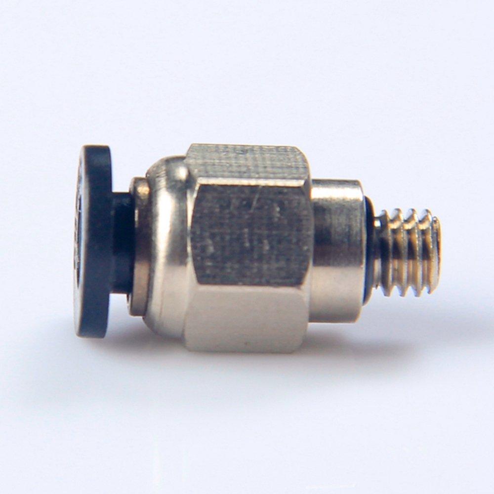 GAOHOU Connecteur de pouss/ée de tube de 2Pcs 4MM PC4-M5 pour le guide 3D de filament dimprimante
