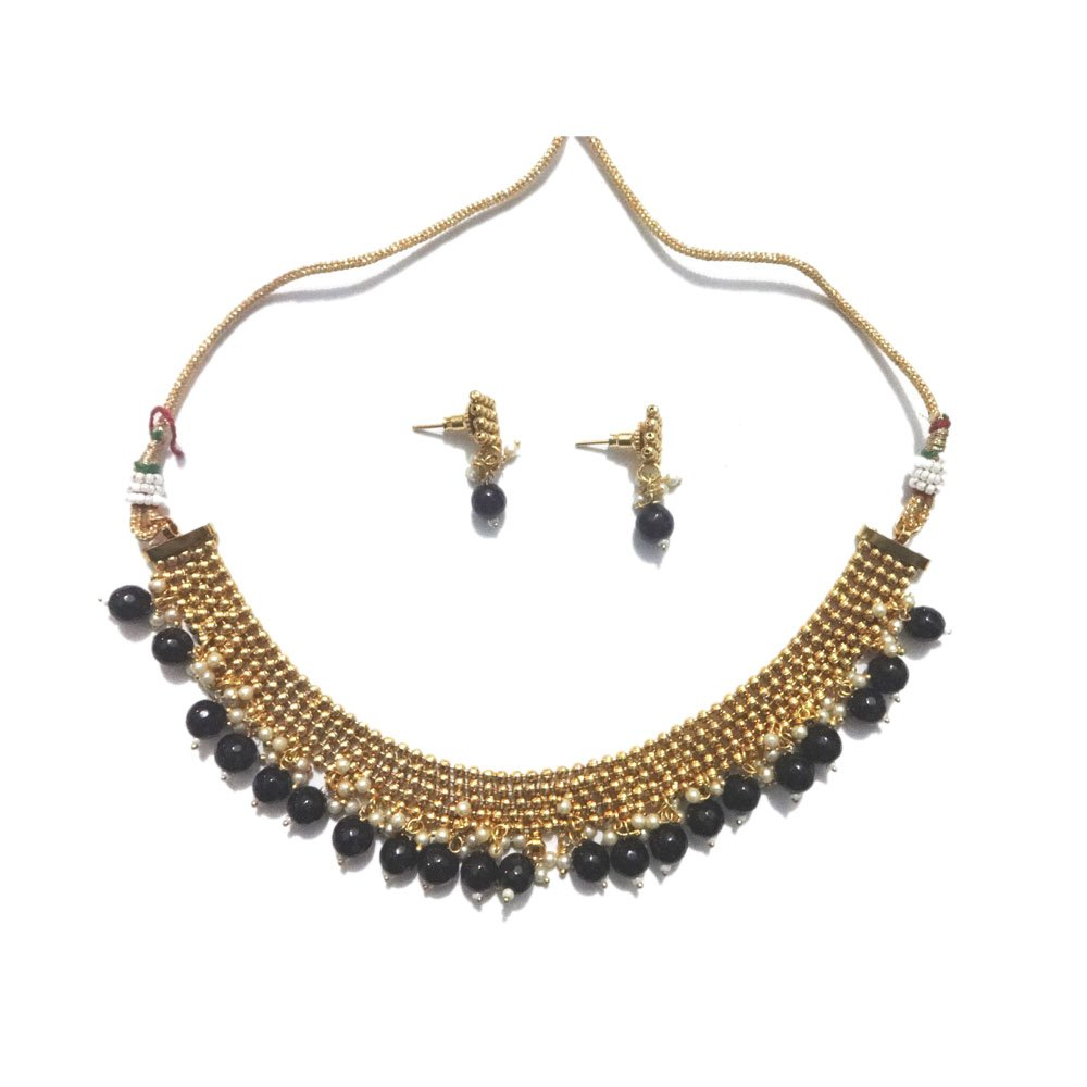 Traditional Jewels Indian ethnic party wear Bollywood designer Women Golden necklace set