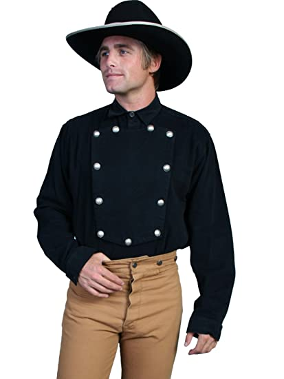 Men's Steampunk Clothing, Costumes, Fashion Twill Bib Shirt  AT vintagedancer.com
