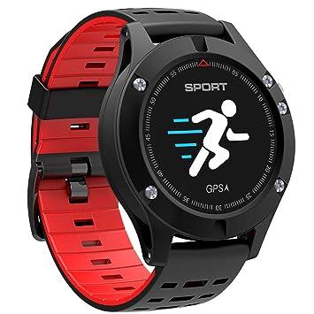smart watch F5, Rastreador De Ejercicios, AltíMetro/BaróMetro / TermóMetro GPS para Reloj Deportivo, para Android E iOS: Amazon.es: Jardín