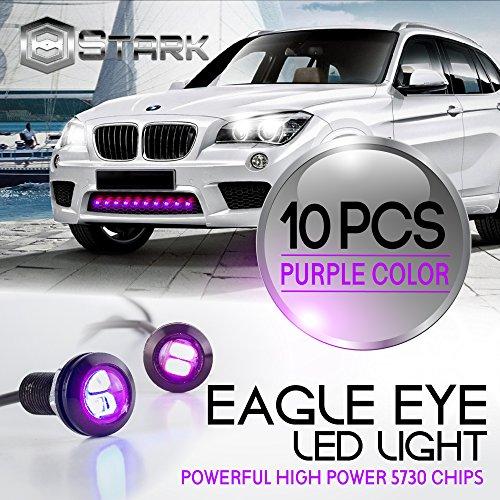 Eagle Eye 18mm 5730SMD High Power LED Fog Light DRL Backup Signal Bulbs - Purple (10 Pieces)