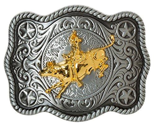 Cowboy Big Belt Buckle Bull Riding Western Bull Rider Rodeo New Texas (Bull -