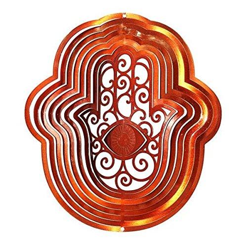 Wind Spinner: Large Copper Hamsa