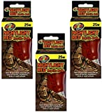 Zoo Med Nightlight Red Reptile Bulb 25 Watts (3 Pack)
