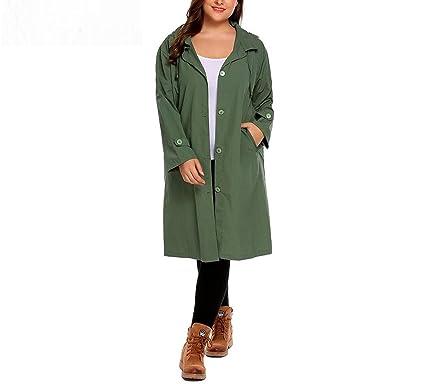 Amazon.com  MRxcff Women s Trench Coat Plus Size Xl-5Xl Hoodie Windbreaker  Solid Pockets Button Lightweight Raincoat Overcoat Big Size  Clothing 134824f4b6cb